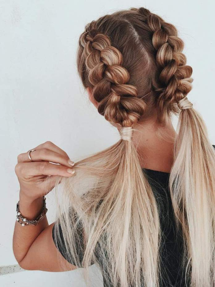 Braided-Two-Sided-Ponytail-Hair Long Braided Hairstyles to Look Beautiful as Never Before
