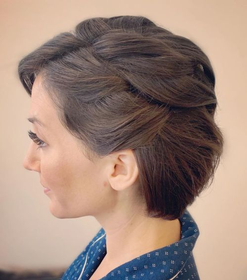 Bridal-Chin-Length-Hair 12 Flattering Chin-Length Hairstyles You Need to Try