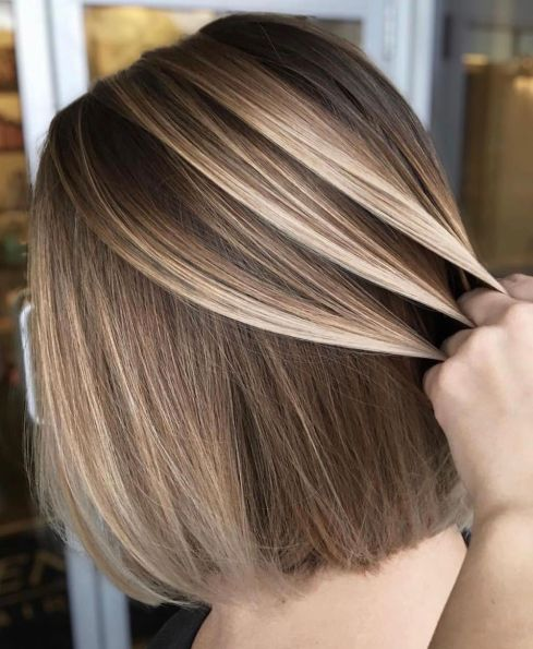 Bronde-Balayage-for-Straight-Shorter-Hair Balayage and Everything About This Trendy Hair Color