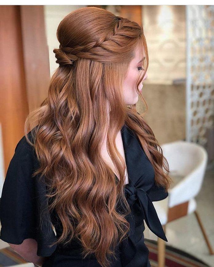 Brown-Wavy-Hair Ultra Modern Wedding Hairstyles 2020
