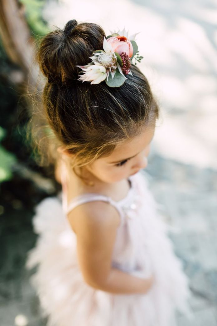 Bun-Hairstyle Most Cutest Flower Girl Hairstyles