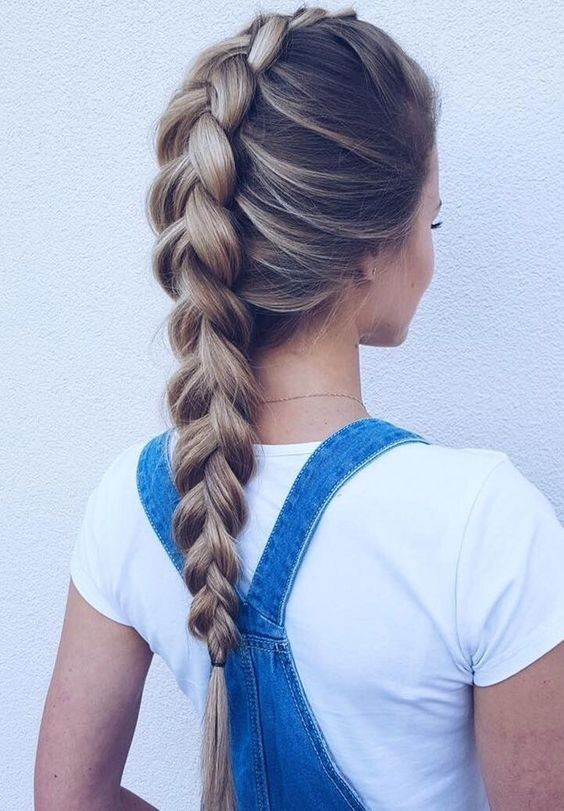 Classic-French-Braid-Hairstyle Long Braided Hairstyles to Look Beautiful as Never Before