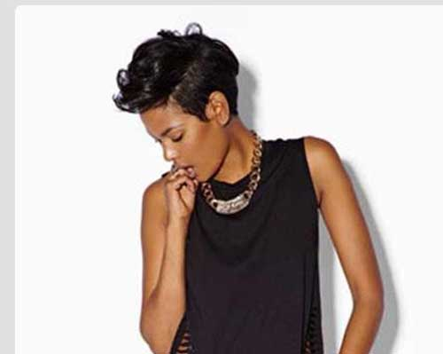 Cool-Short-Pixie-Hairstyle-For-Black-Women Naturally Short Hairstyles for Beautiful Black Women