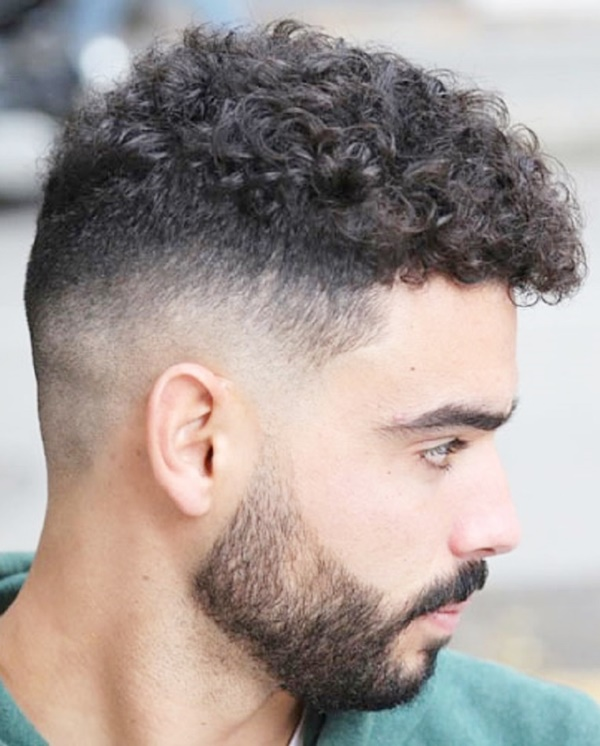 Curly-Wavy-Fade-Haircut Most Trendy Looks of Short Fade Haircuts