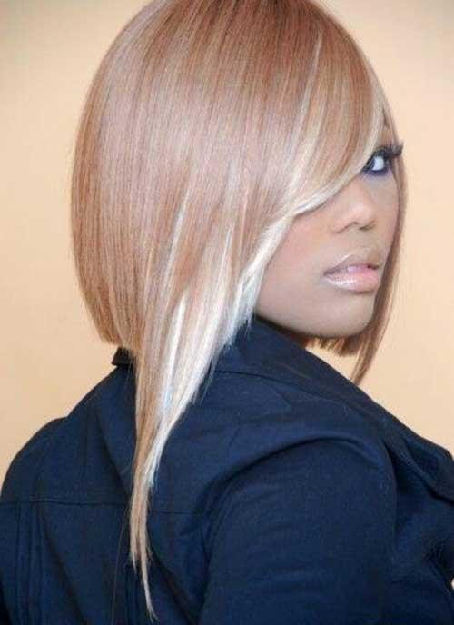 Cute-Asymmetrical-Long-Bangs-for-Black-Women 20 Asymmetrical Bob with Bangs 2020