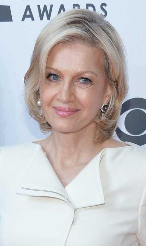 Diane-Sawyer Most Beloved Short Hair Styles for Older Women