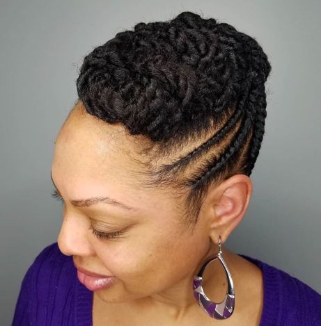 Fancy-Twisted-Updo 12 Stunning Black Braided Hairstyles 2020