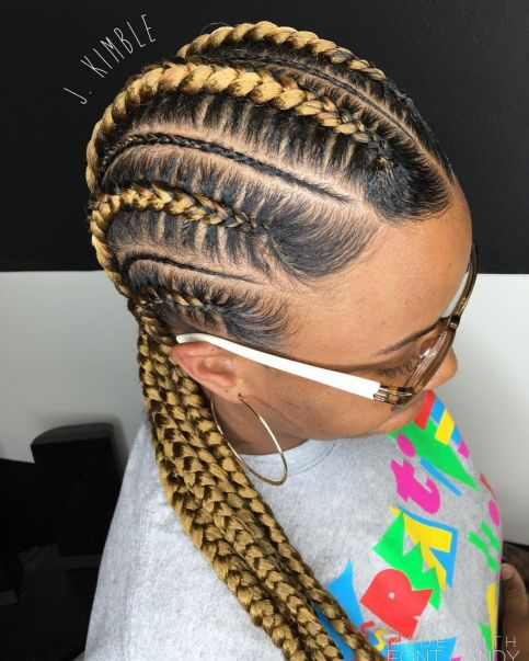 Feed-in-Braids 12 Stunning Black Braided Hairstyles 2020