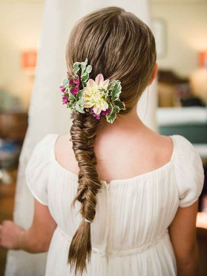 Fishtail-Braid-Hairstyle Most Cutest Flower Girl Hairstyles