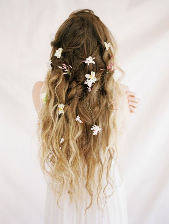 Flower-in-Between-The-Braids Most Cutest Flower Girl Hairstyles