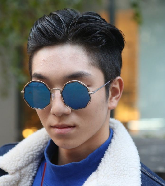 Gently-Slicked-Back-Hair Dashing Korean Hairstyles for Men