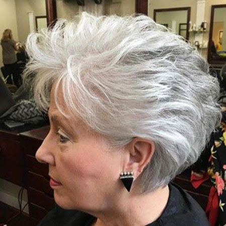 Grey-Hair 19 Great Pixie Haircuts for Older Women