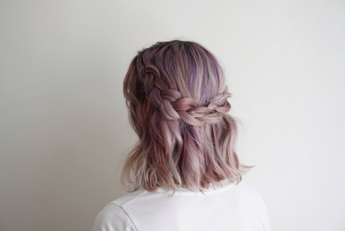 Half-Braided-Style Most Coolest Medium Hairstyles with Color