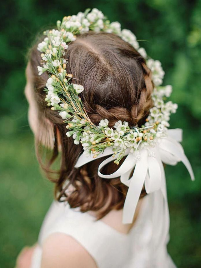 Halo-Style Most Cutest Flower Girl Hairstyles