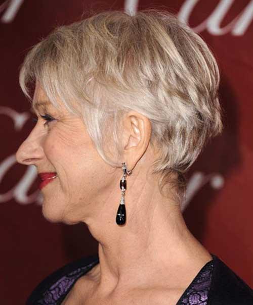 Helen-Mirren Most Beloved Short Hair Styles for Older Women