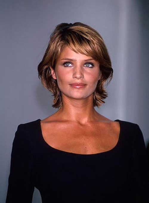 Helena-Christensen's-Hairstyle-with-Thick-Bob Best Ways to Sport Bob Hairstyles with Thick Hair