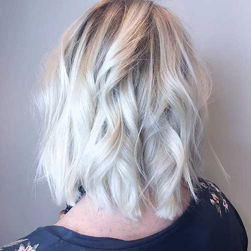 Ice-Blonde-Bob Super Short Haircuts for Women