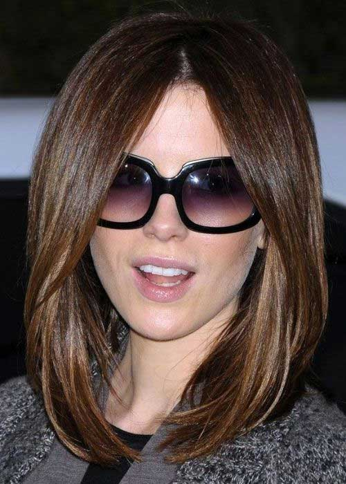 Kate-Beckinsale's-Long-Straight-Bob-Style 15 Ultimate Straight Long Bob Hairstyles