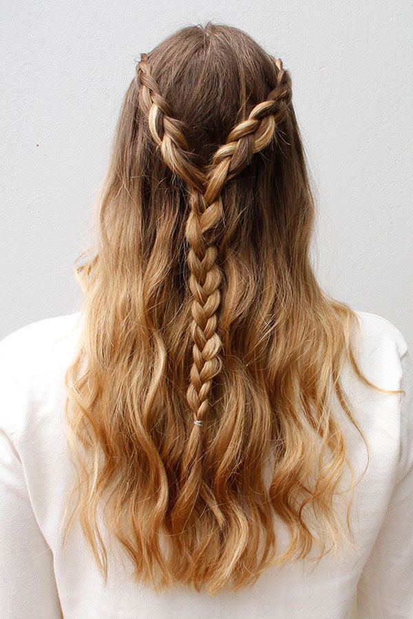 Lace-Braided-Hair Long Braided Hairstyles to Look Beautiful as Never Before
