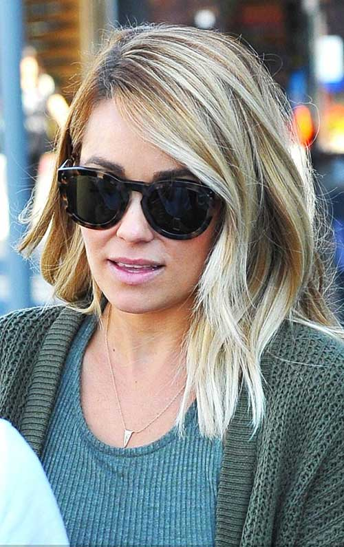 Lauren-Conrad's-Thick-Blonde-Bob-Hairstyle Best Ways to Sport Bob Hairstyles with Thick Hair