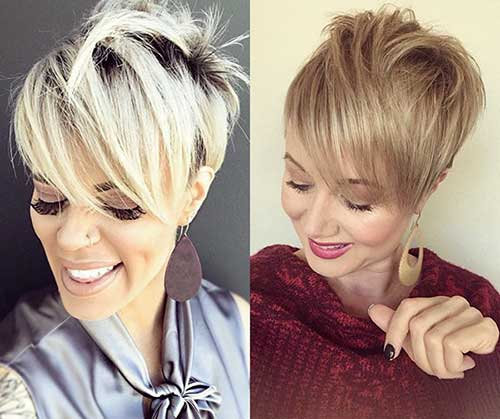 Layered-Blonde-Pixie Super Short Haircuts for Women