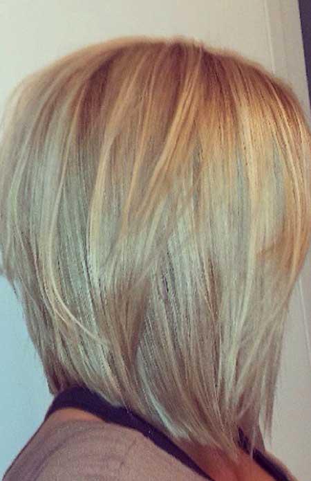 Layered-Straight-Thick-Bob 25 Blonde Bob Haircuts