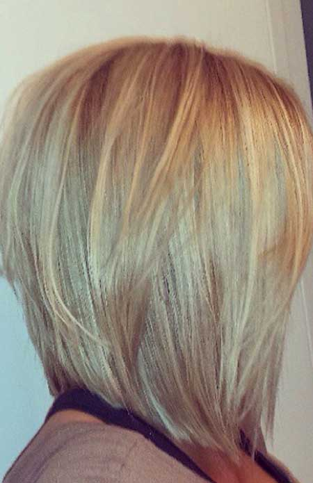 Layered-Straight-Thick-Bob 25 Blonde Bob Haircuts