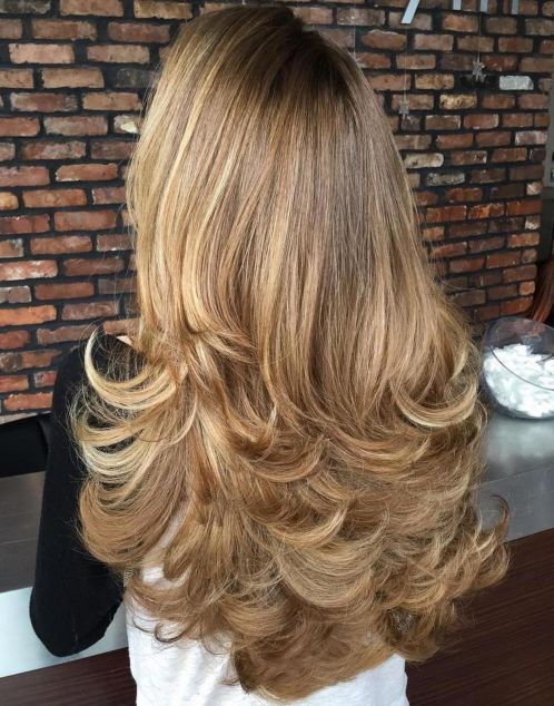 Layered-with-a-Flip 15 Trendy Long Haircuts For Women In 2020