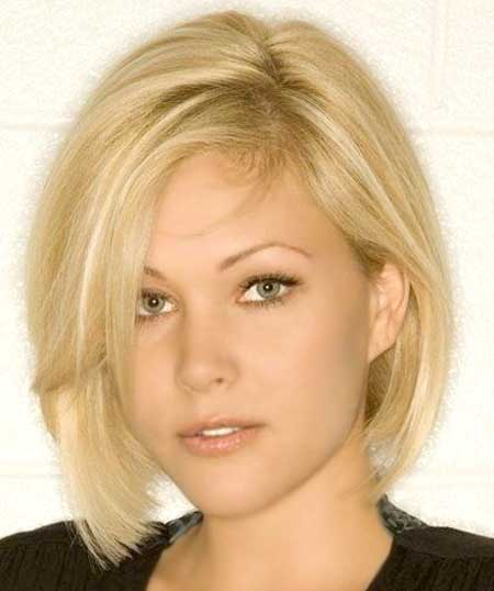 Light-Blonde-Thin-Cute-Bob-Cut 25 Blonde Bob Haircuts
