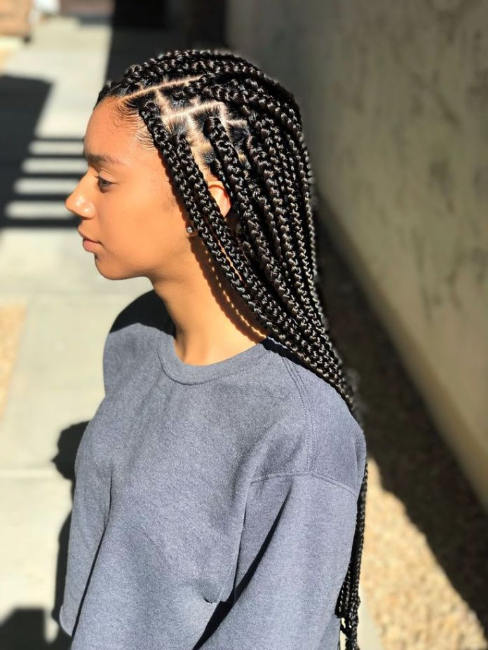 Long-Black-Braids-Hairstyle Natural Hair Braids to Enhance Your Beauty