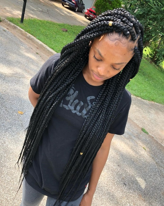 Long-Box-Braids Long Braided Hairstyles to Look Beautiful as Never Before