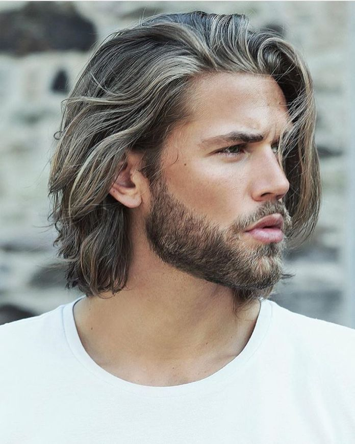 Long-Messy-Hair-with-Highlights Modern Hairstyles for Men to Look Awesome