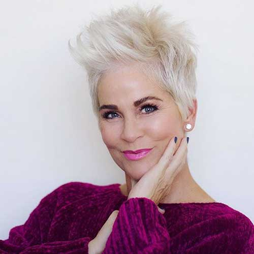 Long-Top-Pixie Amazing Short Haircuts for Older Women
