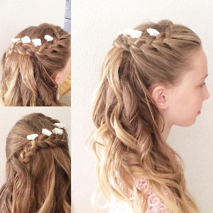 Loose-Braid-Hairstyle Most Cutest Flower Girl Hairstyles
