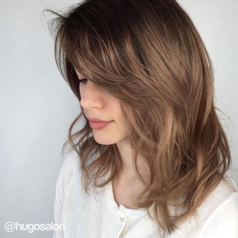 Medium-Cut-with-Side-Bangs Little Secrets You Need To Know When Rocking Layered Haircuts
