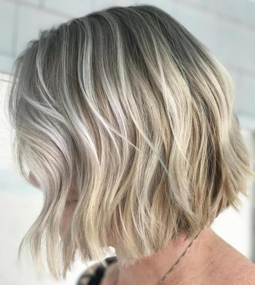 Messy-Graduated-Bob. 15 Hottest bobs hairstyles to try in 2020