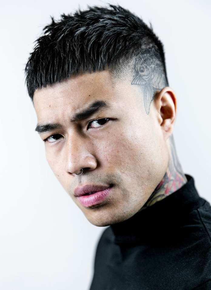 Mid-Length-Bowl-Cut-with-an-Undercut Dashing Korean Hairstyles for Men