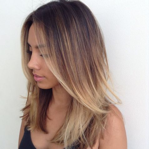 Middle-Part-and-Medium-Length Little Secrets You Need To Know When Rocking Layered Haircuts