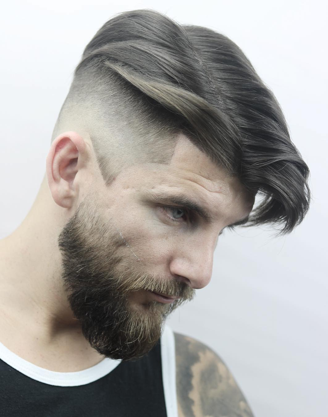 Middle-Parted-Vulture-Hairstyle Modern Hairstyles for Men to Look Awesome