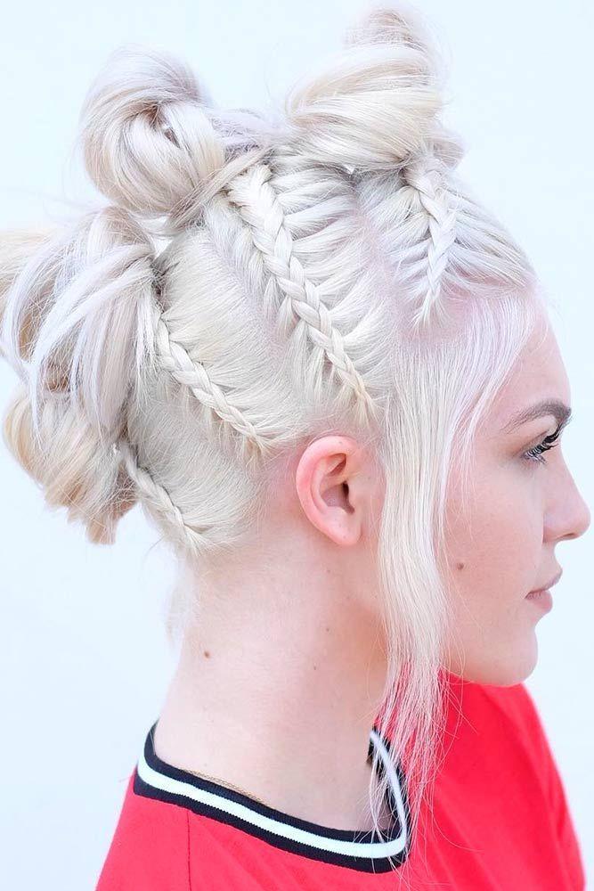 Multiple-Bun-Hairdo Braids Hairstyles 2020 for Ultra Stylish Looks