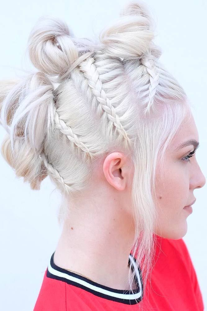 Multiple-Bun-Hairdo Braids Hairstyles 2020 for Ultra Stylish Looks