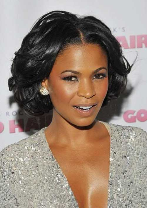Nia-Long's-Awesome-Bob-Short-Haircut Naturally Short Hairstyles for Beautiful Black Women