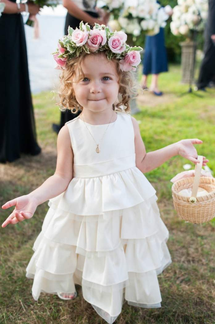 Pink-Rose-Hairstyle Most Cutest Flower Girl Hairstyles