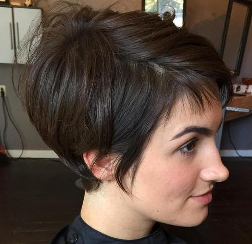Prim-and-Proper 12 Trendiest Short Brown Hairstyles and Haircuts