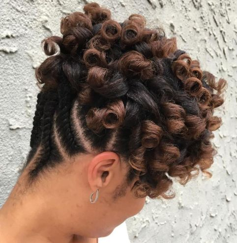 Reverse-Flat-Twists 12 Stunning Black Braided Hairstyles 2020