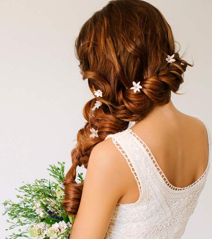 Rope-Braid-Hairstyle Ultra Modern Wedding Hairstyles 2020