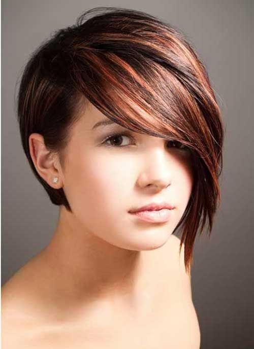 Short-Asymmetrical-Gorgeous-Bob Best Short Bobs for Ladies with Round Faces
