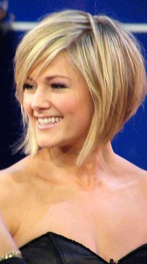 Short-Classic-Blonde-Bob Best Short Bobs for Ladies with Round Faces