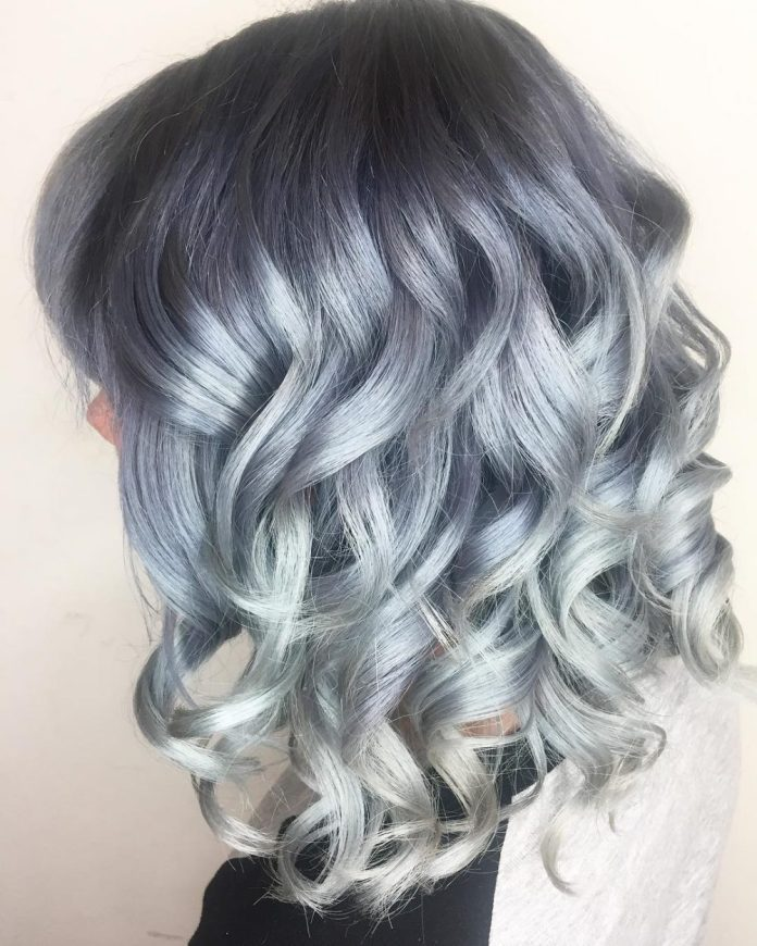 Silve-color-melt 14 Medium Hairstyles for Women in 2020