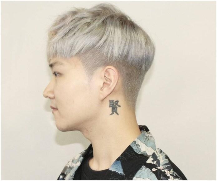Silver-Blonde-Bowl-Cut Dashing Korean Hairstyles for Men